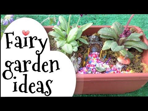 Fairy garden ideas.How to make a miniature fairy garden village