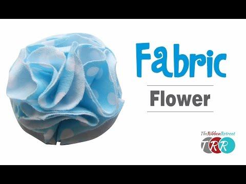 How to Make a Fabric Flower - TheRibbonRetreat.com