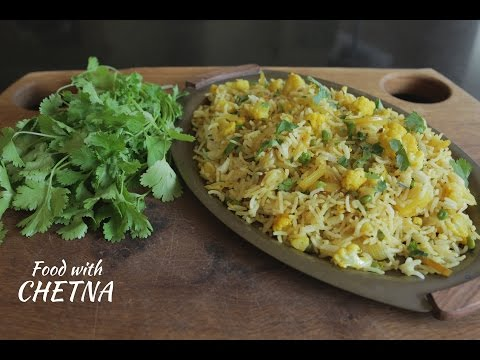 Delicious Potato and Cauliflower fried rice - Food with Chetna