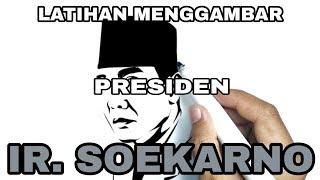 Menggambar Wajah Proklamator Ri Ir Soekarno Warnai Dong Hasilnya