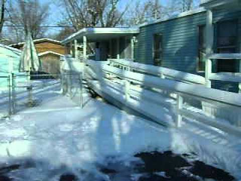WINTER  WONDERLAND AT  A  OLD HUMBLE MOBILE HOME