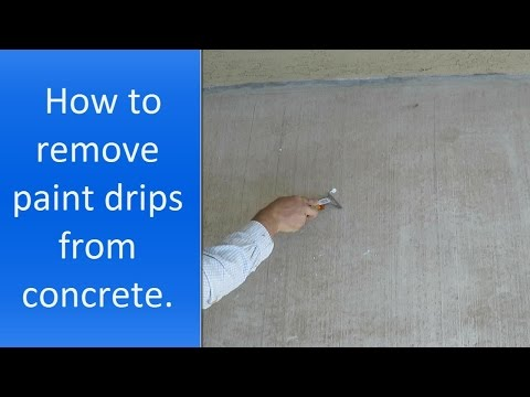 How to remove paint drips from concrete
