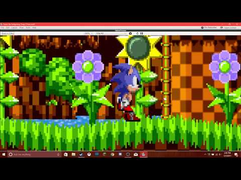 Sonic The Hedgehog in GameSalad