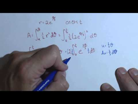 Area of a Polar Curve with Definite Integral