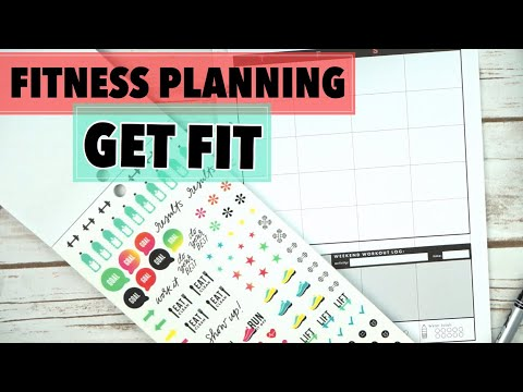 HAPPY PLANNER FITNESS PLAN WITH ME - DROP THAT CUPCAKE | KETO JOURNEY | CLASSIC HAPPY PLANNER