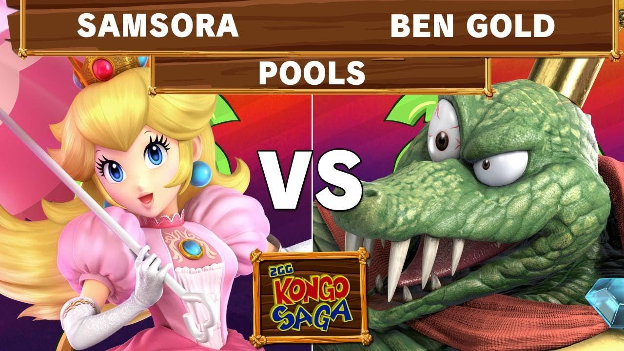 2GG Kongo Saga - eUnited | Samsora (Peach) Vs 411 | Ben Gold (K Rool) Winners Pools - Smash Ultimate