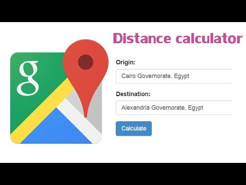 calculate distance between two points google maps