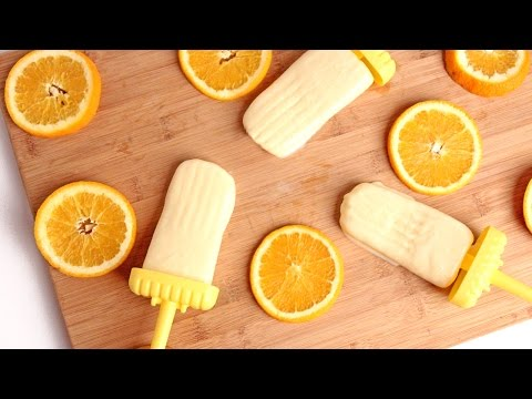 Homemade Creamy Orange Popsicle Recipe - Laura Vitale - Laura in the Kitchen Episode 924