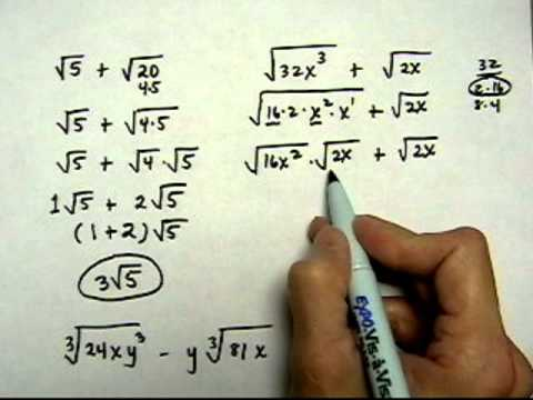 add or subtract radical expressions, with simplifying - (cr).mov
