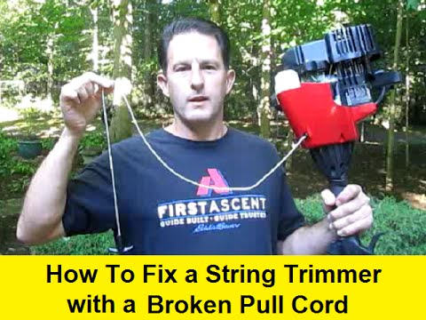 How To Fix a String Trimmer with a Broken Pull Cord
