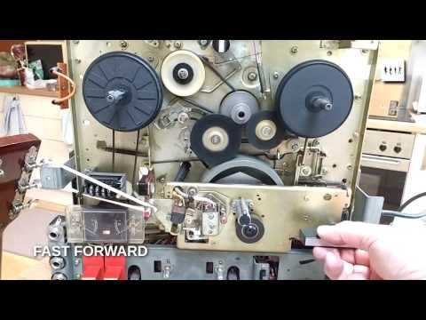 SONY TC-280 Tape Deck - Arrangement of Idlers and Belts