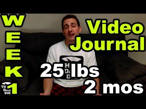 Losing 25 lbs in 2 mos – Week  1 Weight Loss Journal (THE DAN DIET)
