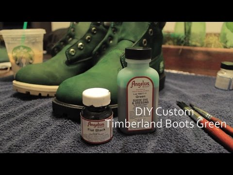 How to dye Timberland Boots Suede dye