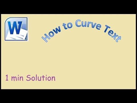 How to curve text in Microsoft Word 2010