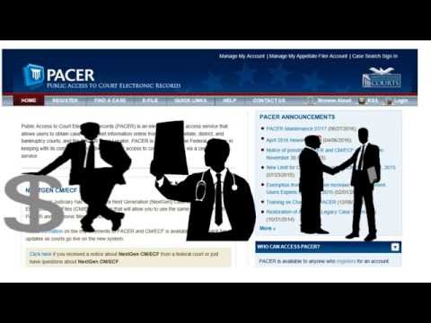 PACER - Where to Find Federal Court Recrods - Criminal, Law Suits, Bankruptcy