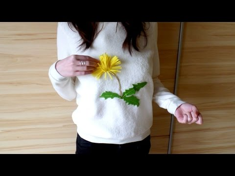 DIY Dandelion Appliqué Clothing Upcycle Creative Ideas & Crafts Clothing Makeover