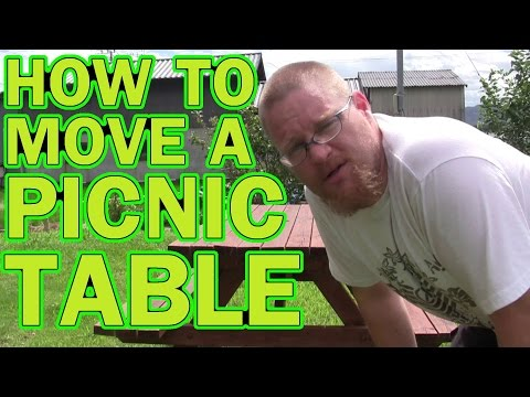How To Move a Picnic Table