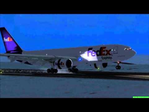 Santa Claus Landing North Pole (FedEX A330)