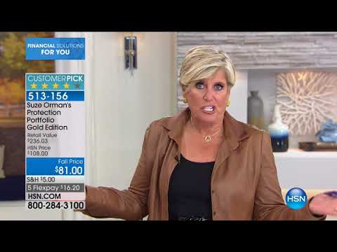 HSN | Suze Orman Financial Solutions for You 09.24.2017 - 01 AM