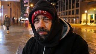 Homeless man in Toronto: