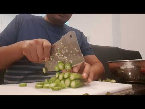 How to cut Okra/Lady finger quicker?