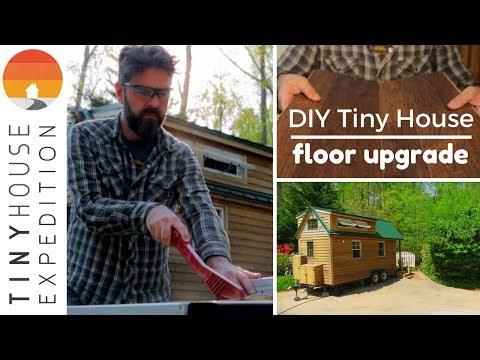 Our BIG Tiny House Floor Upgrade //DIY Installation Pergo TimberCraft +WetProtect