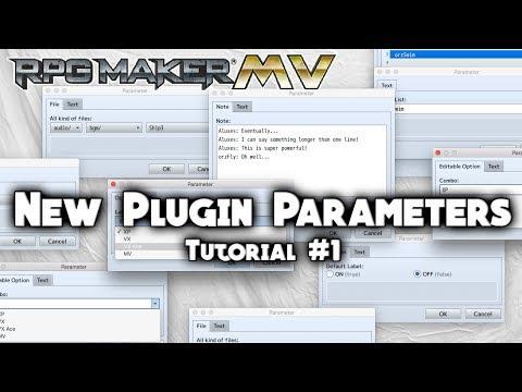 New Plugin Parameters Tutorial #1 - RPG Maker MV Scripting