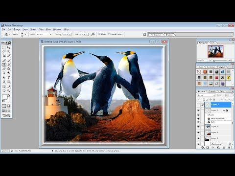 Tutorial Photoshop |Cara Menggabungkan Tiga Gambar di photoshop