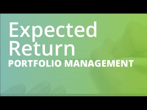 Expected Return and Standard Deviation | Portfolio Management