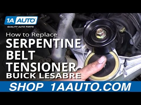 How To replace Install Serpentine Belt tensioner 1996-98 Buick Lesabre 3800 3.8L