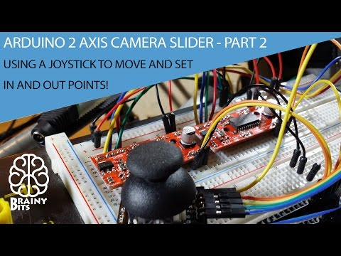Arduino Stepper 2 Axis Camera Slider - Set IN and OUT points using a Joystick - Tutorial Part 2