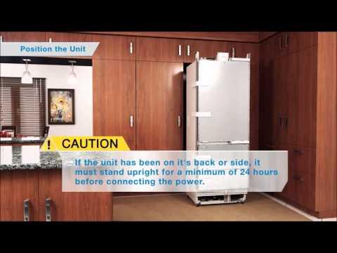 SubZero refrigerator installation 3D animation