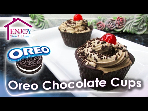 No-Bake Oreo CheeseCake In Chocolate Cups Yummyy | Easy and simple Recipes