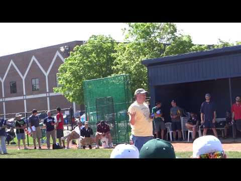 Brian Wolf Gives Opening Ceremony Speech At Grindstone Charity Classic Showcase