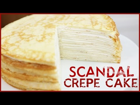 20 LAYER CREPE CAKE from SCANDAL - DIY