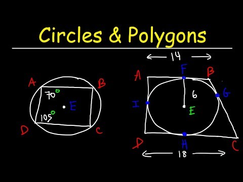 Inscribed Polygons and Circumscribed Polygons, Circles - Geometry