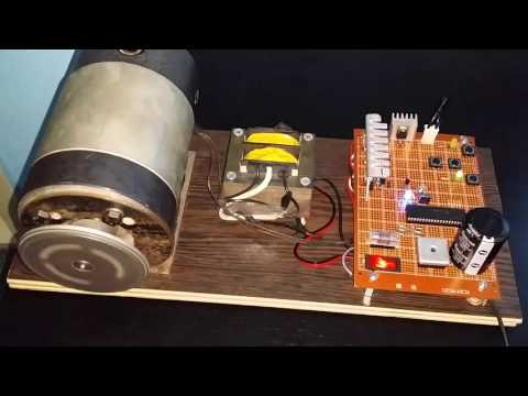 DC motor bidirectional speed control using pwm