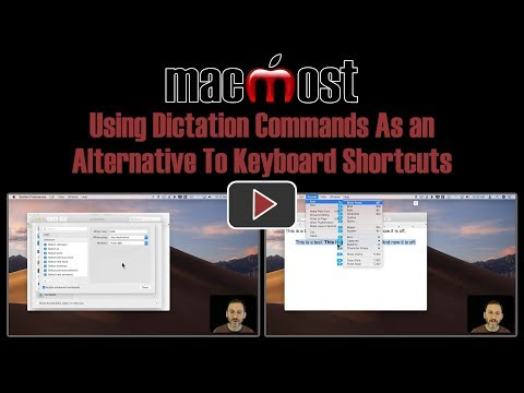 Using Dictation Commands As an Alternative To Keyboard Shortcuts (MacMost #1834)