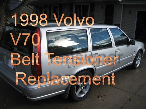 1998 Volvo V70 Tensioner and belt replacement (without special tool)