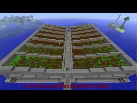 HUGE Minecraft Auto Carrot, Potato & Wheat Farm Time Lapse - Planting & Harvesting (Time-Lapse EP1)