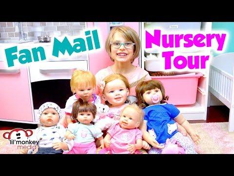 👶🏼  My Reborns! Nursery Room Tour & Fan Mail!