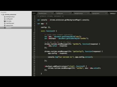 Chrome Extension - Using a Config.json file
