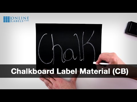 Chalkboard Labels - See Features and Uses