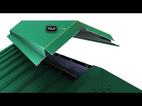 How to install a metal roof ridge cap for Union's MasterRib panel.