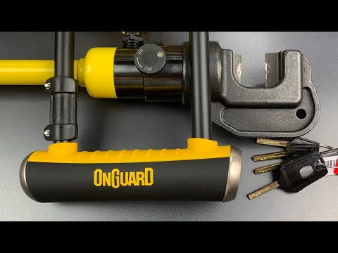 """[793] Hydraulic Cutter DEFEATED by OnGuard's 17mm """"Brute"""" Bicycle Lock (Model 8001)"""