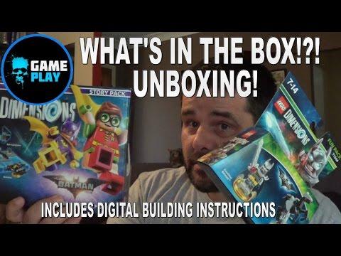 Lego Dimensions Batman Movie Story Pack Unboxing Plus Digital Instructions