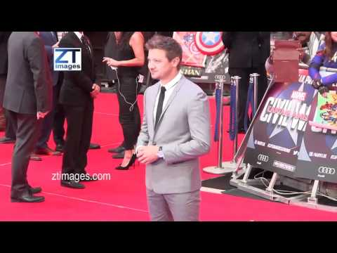 Jeremy Renner at the film premiere Captain America: Civil War in London, UK