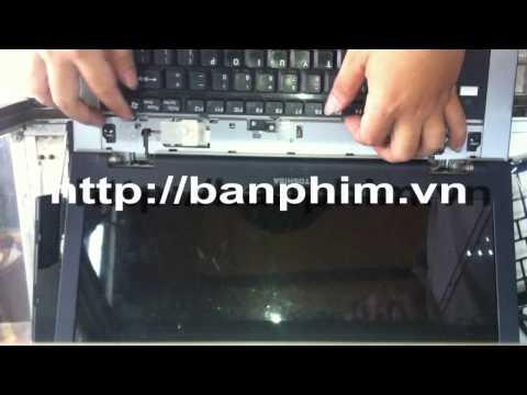 Thay tháo sửa lắp bàn phím Toshiba Tecra A8-S8514 keyboard replacement fix assembly guide