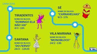 #nocarnavaldemetro Mapa Da Folia
