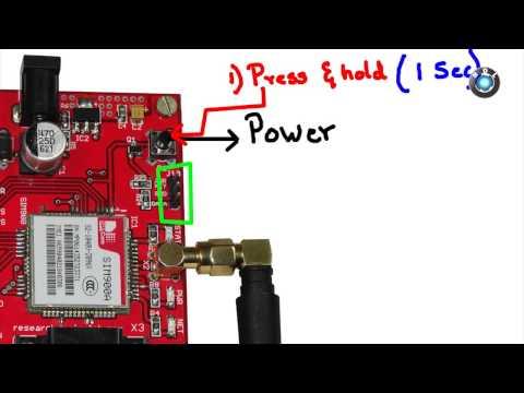GSM SIM 900A serial interface